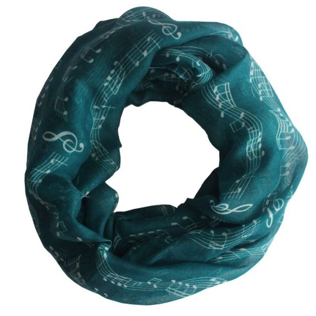 Women's Musical Notes Printed Scarf
