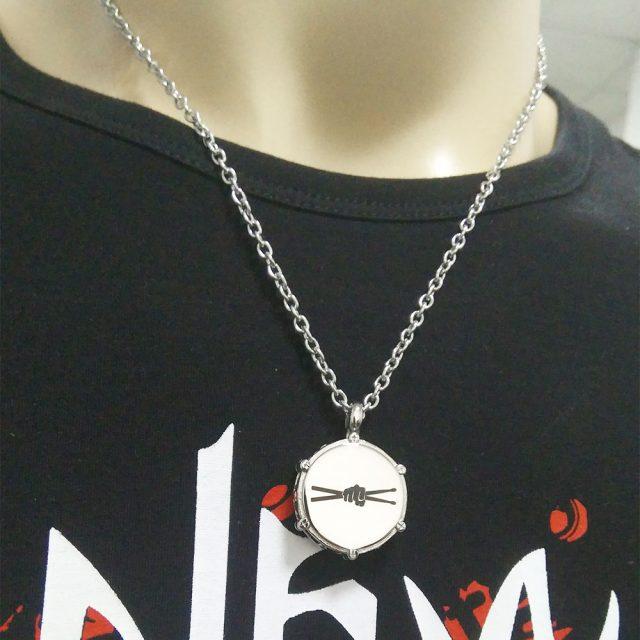 Men's Musician Drummer's Pendant Necklace