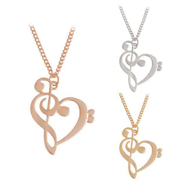 Fashion Musical Note Shape Minimalist Women's Pendant Necklace