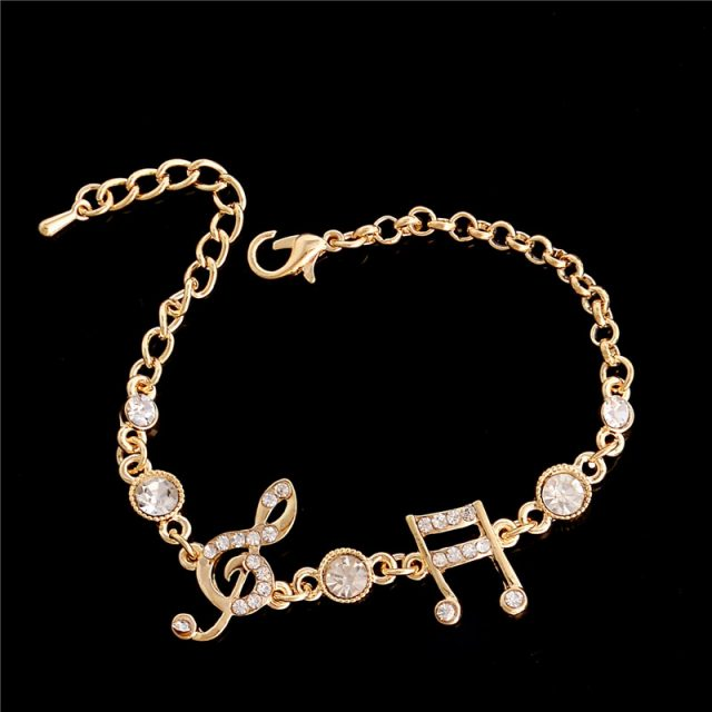 Music Style Bracelet With Crystals