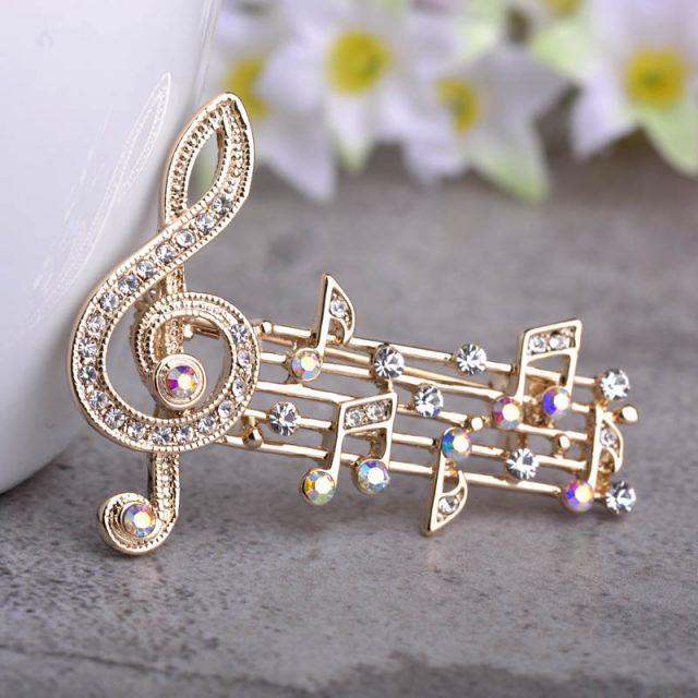 Women's Music Note Brooch