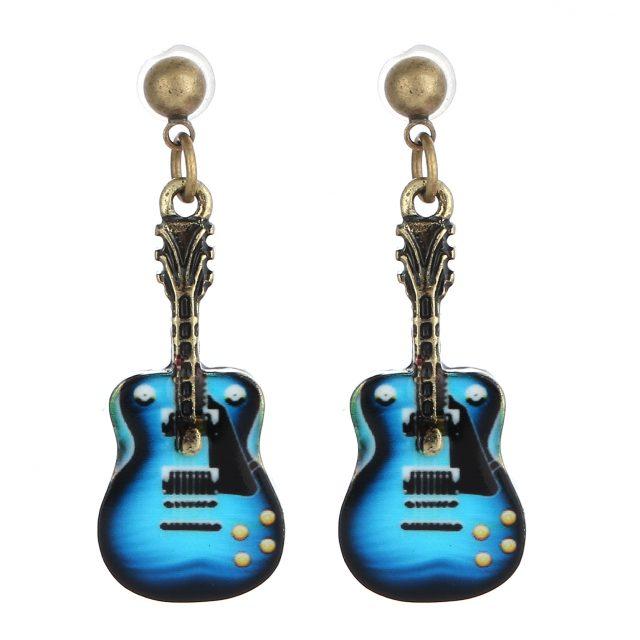 Women's Guitar Shaped Stud Earrings