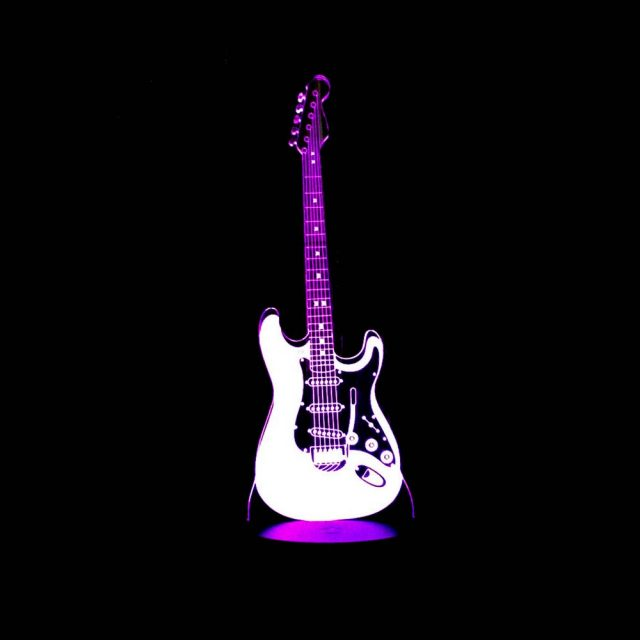 Boy's 3D Guitar Nightlight