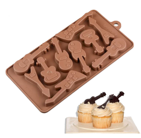 Cute Guitars Shaped Eco-Friendly Silicone Baking Mold