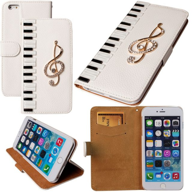 DIY Piano Styled Leather Phone Flip Case