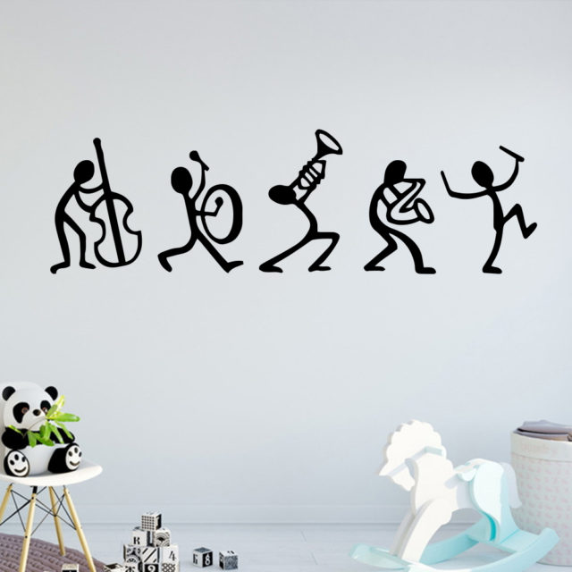 Music Vinyl Wall Stickers Art Deco Home Living Room Baby Room Decoration Wall Stickers Poster Decals New Design LW114