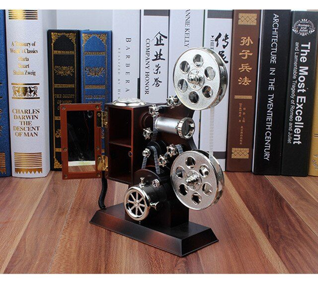 Vintage Plastic Music Box Antique Jewelry Projector Model Decoration Music Boxes For Kids Birthday Wedding Gift Toy Musical Box