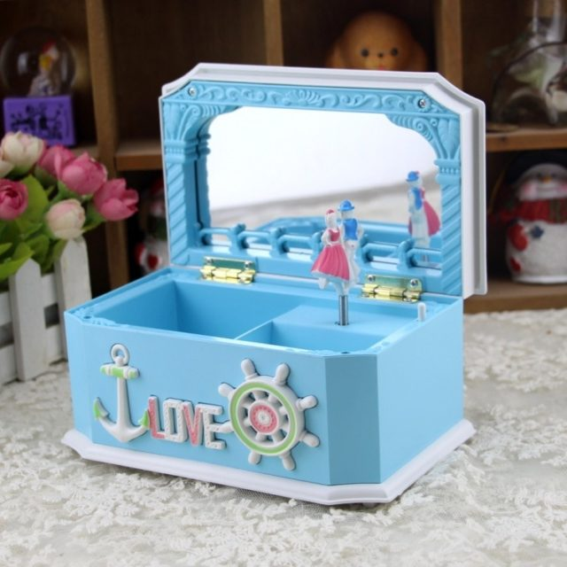Girls Music Box Christmas Music Jewelry Box Fashion Children Musical Boxes Birthday gifts for Girlfriend Home Decoration JJ071