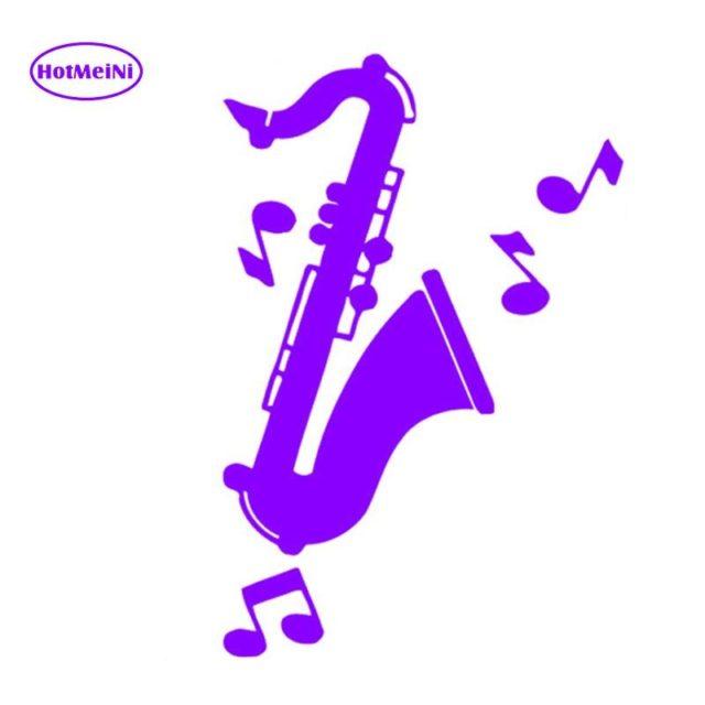 HotMeiNi Interesting Saxophone Music Symbol Vinyl Decal Car Sticker For Car Window Bumper Laptop Kayak Waterproof 11*16.6cm