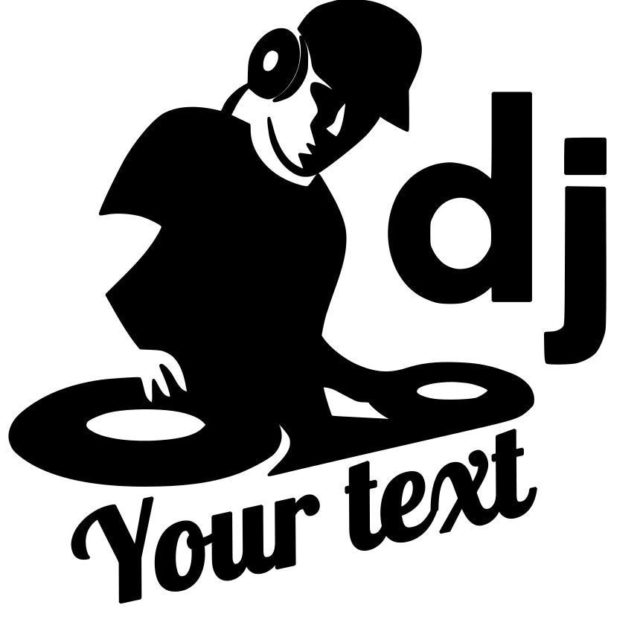 DJ Music Text Vinyl Decal Sticker for Cars Motorcycle SUVs Bumper Car Window Laptop Car Stylings