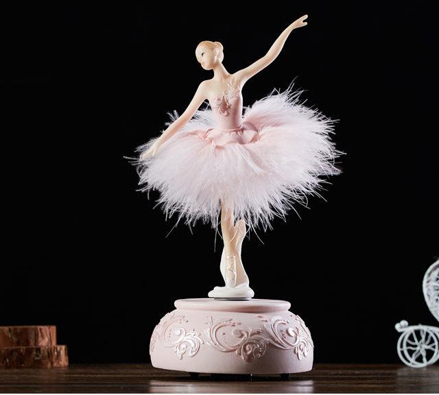 Elegant Ballerina Music Box - Swan Lake Music