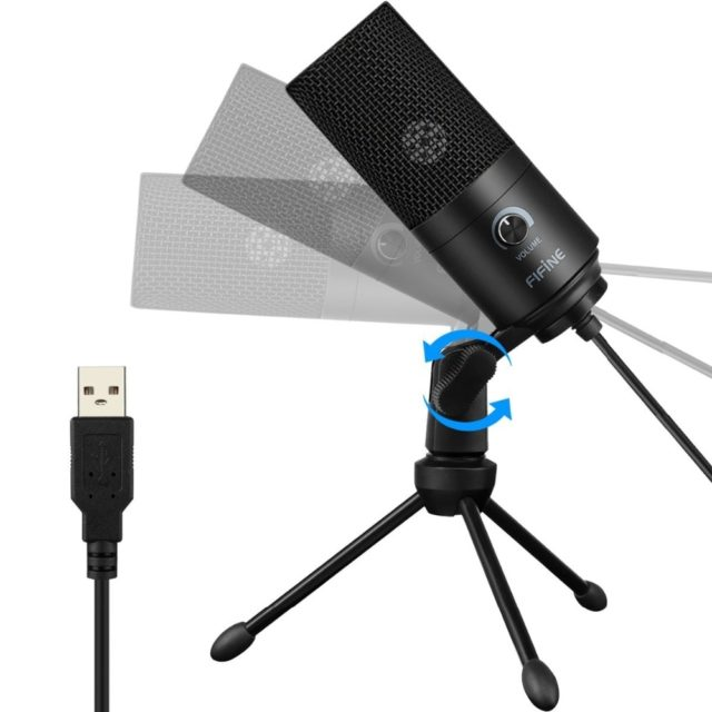 Fifine Metal USB Condenser Recording Microphone For Laptop MAC Or Windows Cardioid Studio Recording Vocals  Voice Over, YouTube