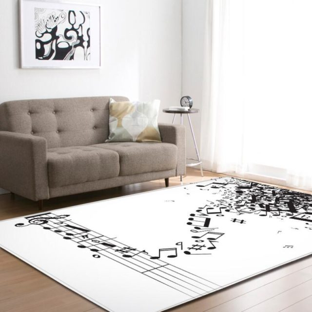 Music Themed Polyester Carpet - Various Designs