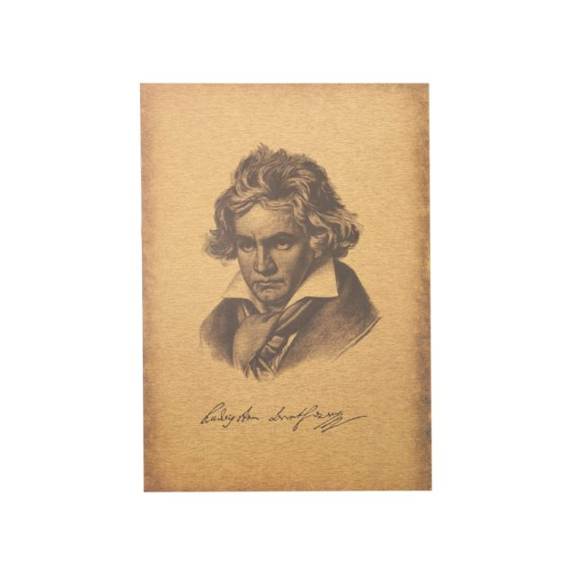 TIE LER Famous Classical Musician Beethoven Kraft Paper Poster Decoration Painting Wall Stickers 51X36cm