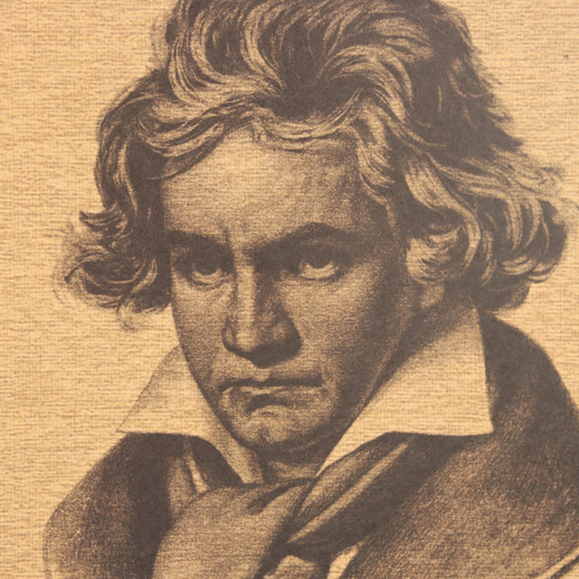Musician Beethoven Retro Kraft Paper Poster Indoor Decoration Wall Sticker Painting Wallpaper 51X36cm