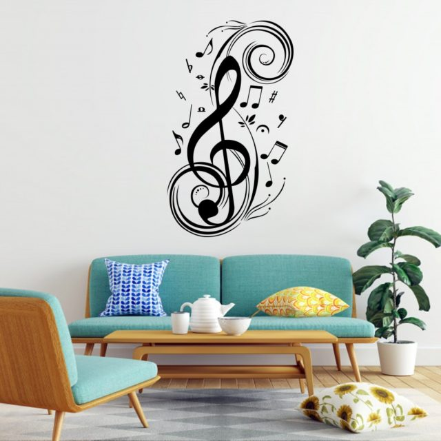 Musical Note Home Decor Music Wall Stickers Waterproof Removable Vinyl DIY Decals Living Room Bedroom Kids Rooms Home Decoration