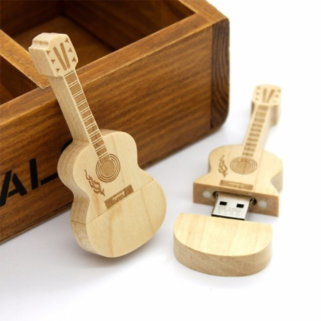 Classic Guitar Shaped USB Flash Drive - Disk on Key - 4GB-64GB