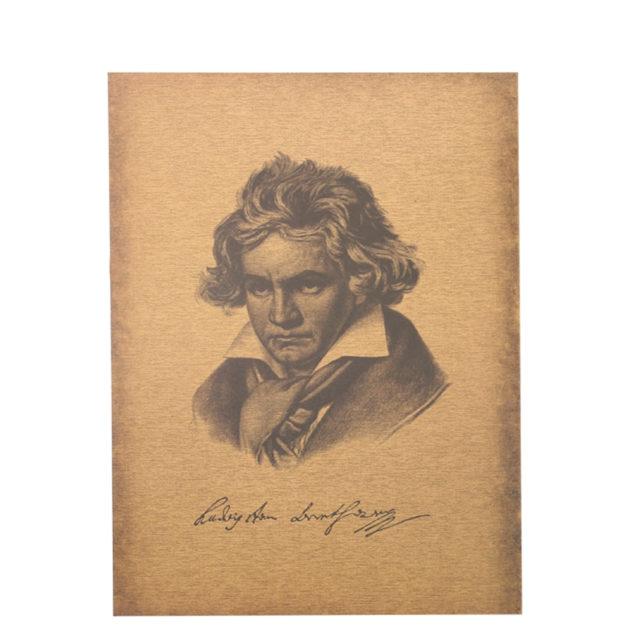 Beethoven Retro Style Poster - Kraft Paper 51X36cm